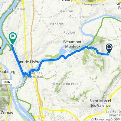 De 145 Chemin de Charbonnel, Châteauneuf-sur-Isère à 5 Chemin de la Croix des Marais, La Roche-de-Glun