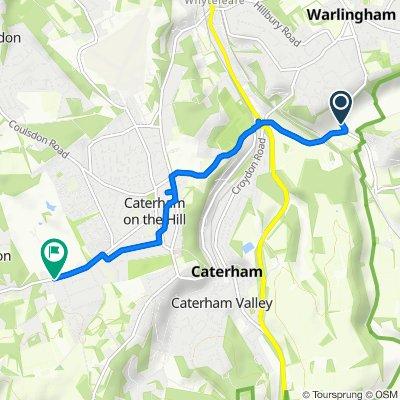 The Barn, Bug Hill, Caterham to Rook Lane, Chaldon, Caterham