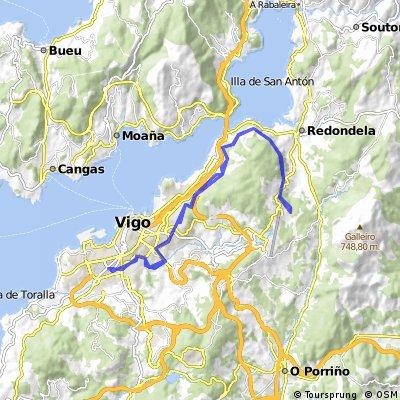 Balaídos - Lagares - Ruta del Agua (ida y vuelta)