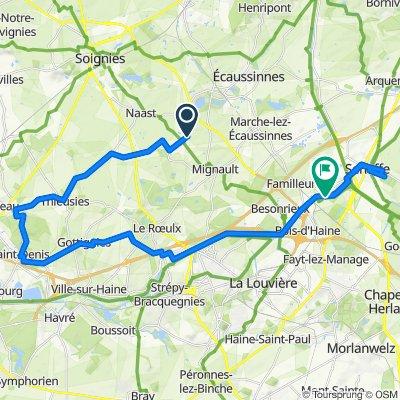 Itinéraire à partir de Rue Victor Plancq 8, Le Roeulx