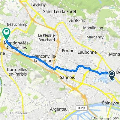 De Rue de Malleville, Enghien-les-Bains à 12 Mail des Copistes, Herblay