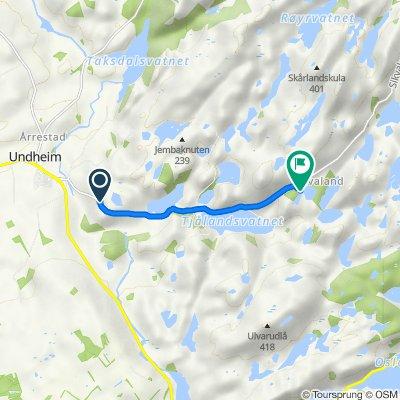 Sikvalandsvegen 72–144, Undheim do Sikvalandsvegen 521–563, Undheim