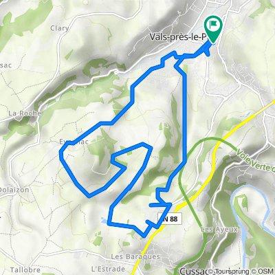 De Avenue du Val Vert 75, Le Puy-en-Velay à Avenue du Val Vert 75, Le Puy-en-Velay