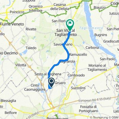 Da Via Belvedere 3, Gruaro a Via Sole 12, San Vito al Tagliamento