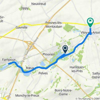 De 2 Résidence du Marais, Biache-Saint-Vaast à 38 Rue de la Grande Chapelle, Vitry-en-Artois