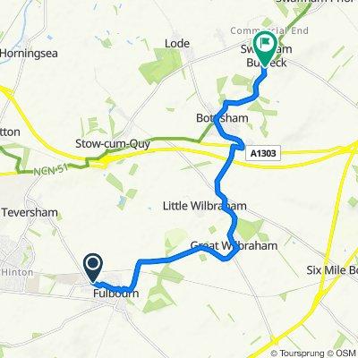 63 Cow Lane, Fulbourn, Cambridge to 111 High St, Cambridge