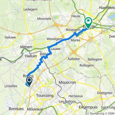 De 3bis Clos du Haras, Roncq à Stationsplein 8, Courtrai