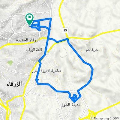 محافظة الزرقاء to Unnamed Road, Az-Zarqa