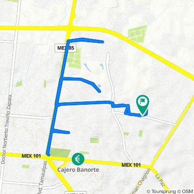 De Calle Ninguno 326, Ciudad Victoria a Calle Ninguno 326, Ciudad Victoria