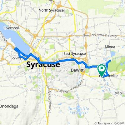 7300 E Genesee St, Fayetteville to 7300 E Genesee St, Fayetteville
