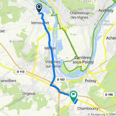 De 7 Rue du Placet, Verneuil-sur-Seine à 4 Allée des Vergers, Aigremont
