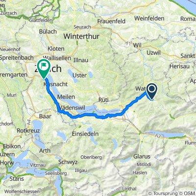 Route von Oberhofweg 2, Ebnat-Kappel