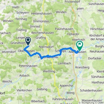 Georg-Grahammer-Straße 8, Reichertshausen nach Am Amperknie 1–5, Allershausen