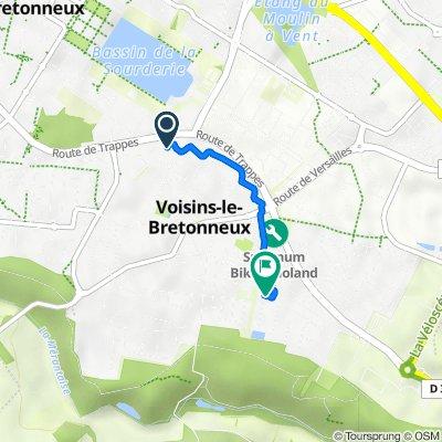 De Allée du Cèdre 9, Voisins-le-Bretonneux à Rue des Peupliers 5, Voisins-le-Bretonneux