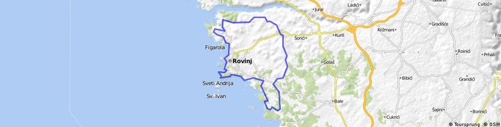 Von Valdaliso über Rovinj nach Rovinjsko Sole