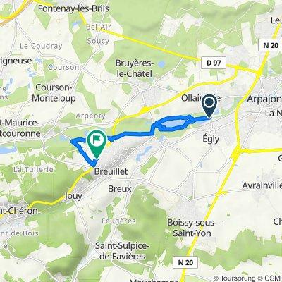 De 7 Route d'Ollainville, Ollainville à 105 Route de Saint-Chéron, Breuillet