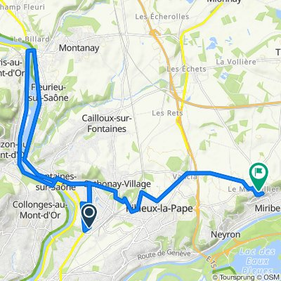 De 2bis Avenue des Bruyères, Fontaines-sur-Saône à 99 Impasse du Donjon, Miribel