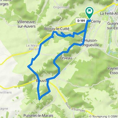 De 16 Chemin des Marats, Cerny à 14 Chemin des Marats, Cerny