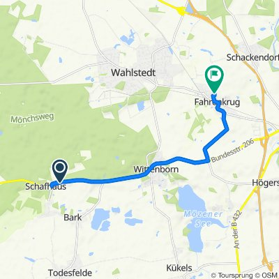 Schafhauser Landstraße 13, Bark nach Moosberg 14, Fahrenkrug