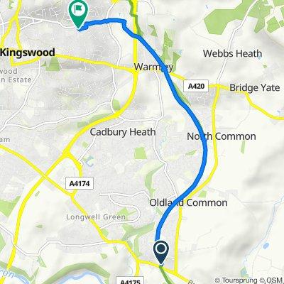 Bitton Station, Bath Road, Bristol to 2 Chipperfield Dr, Bristol