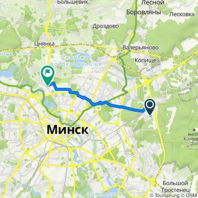 От Yasnaya 40A, Минск до улица Червякова 3, Минск