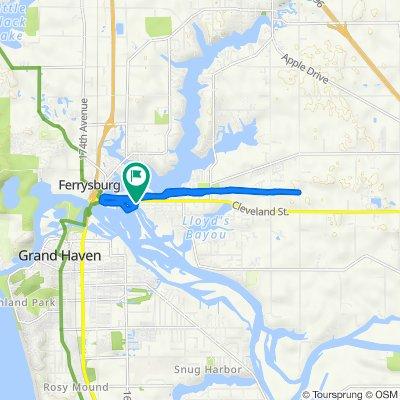 108 S Park St, Spring Lake to 106 S Park St, Spring Lake