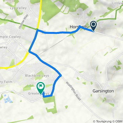 51 Cuddesdon Road, Oxford do 36 Elder Way, Oxford