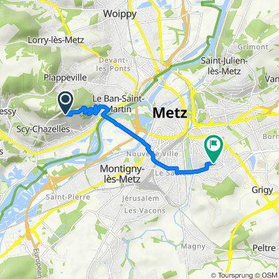 De Chemin des Cents Livres 24, Scy-Chazelles à Rue Liedot 5, Metz