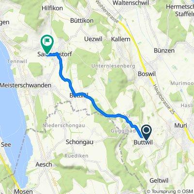 Kuhmattenstrasse 8, Buttwil nach Hagmattenweg 6, Sarmenstorf