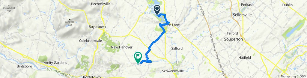 Route to 178 Mill Rd, Schwenksville