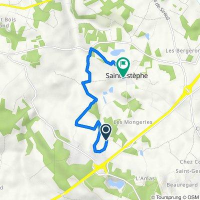 De 7 Chemin de la Sablière, Roullet-Saint-Estèphe à Le Bourg, Roullet-Saint-Estèphe