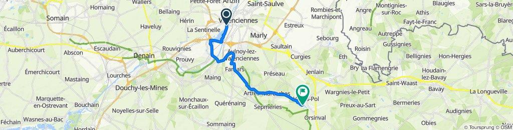 De Rue Malplaquet 12, Valenciennes à Rue du Moulin 9, Villers-Pol
