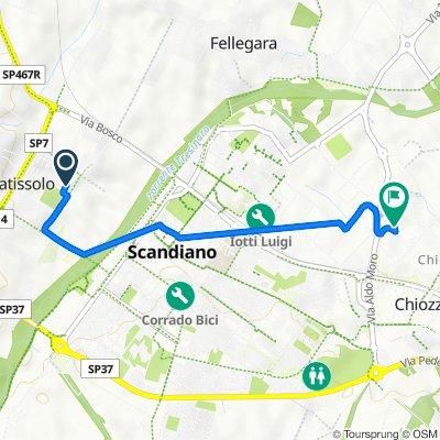 Via Rachel Corrie 7, Pratissolo to Via Marino Mazzacurati 4/E, Scandiano