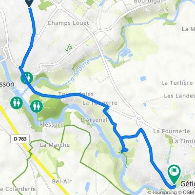De 53N Route de la Brebionnière, Clisson à 18 Rue du Pont Ligneau, Gétigné