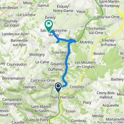 Route from 1 Place de la Gare, Thury-Harcourt