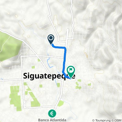 De Unnamed Road, Siguatepeque a Unnamed Road, Siguatepeque