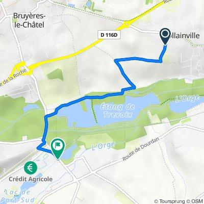 De 7 Rue de la Grosse Haie, Ollainville à Route d'Arpajon, Breuillet