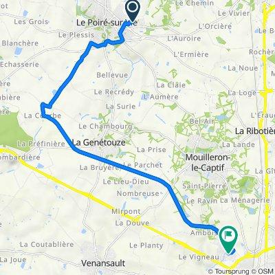 De 16 Rue des Néfliers, Le Poiré-sur-Vie à 35 Rue Théodore Monod, La Roche-sur-Yon