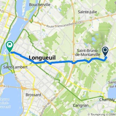 De 1189 Boul du Millénaire, St-Basile-le-Grand à 45–51 Rue de Sérigny, Longueuil