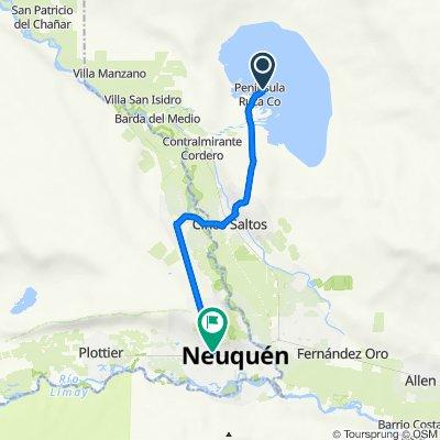 De Ruta Provincial 70 217, Lago Pellegrini a Gobernador Asmar 241, Neuquén