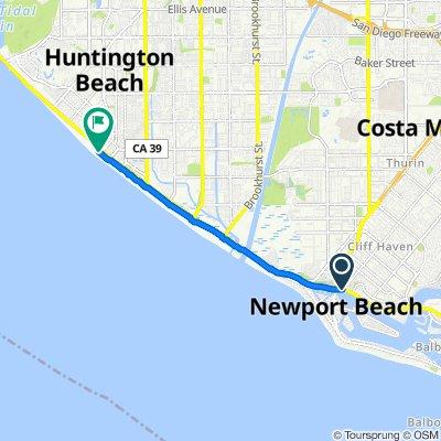 3300 W Coast Hwy, Newport Beach to 1 Pacific Coast Hwy, Huntington Beach