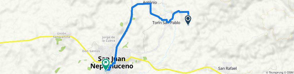 Unnamed Road to Estrella, San Juan Nepomuceno