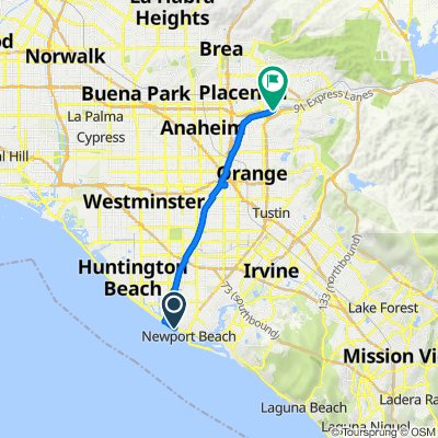 100–198 58th St, Newport Beach to 4365 E Alderdale Ave, Anaheim