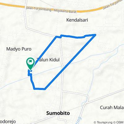 Jalan Dosomuko, Kecamatan Sumobito to Jalan Dosoroto, Kecamatan Sumobito
