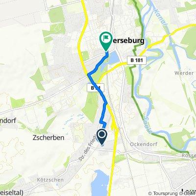 Steigerstraße 15, Merseburg nach Rainer-Zille-Straße 5, Merseburg