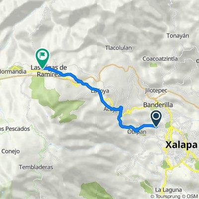 De Independencia 5, Xalapa-Enríquez a San Miguel 190, Las Vigas de Ramírez