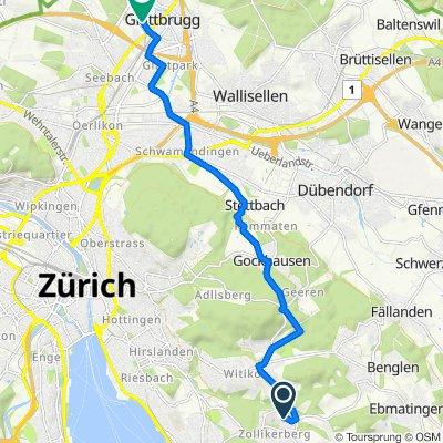 Wilhofstrasse, Zollikerberg nach Sägereistrasse 25, Glattbrugg