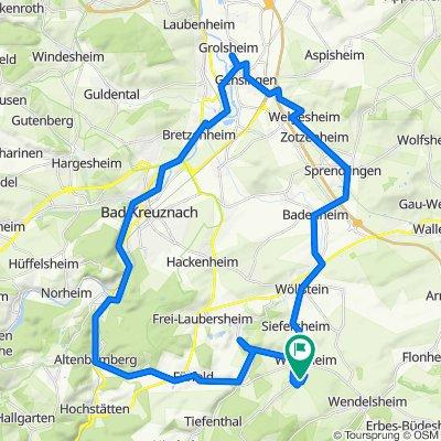 Stein-Bockenheim-Gensingen(Globus)-BadKreuznach-Altenbamberg-StB