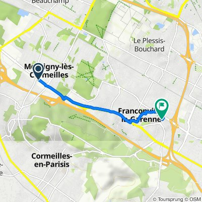 De 84 Boulevard Victor Bordier, Montigny-lès-Cormeilles à 6 Rue Anne Frank, Franconville