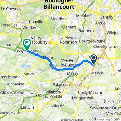 De 30 Rue Louis Blériot, Wissous à 20 Avenue Jean Jaurès, Jouy-en-Josas